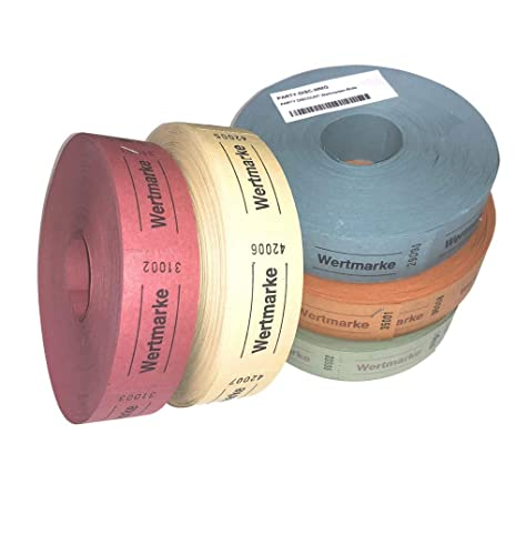 PARTY DISCOUNT ® Rollen-Gutscheine Wertmarke, 1000 Abrisse, rot von PARTY DISCOUNT
