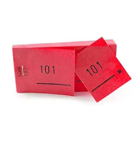 PARTY DISCOUNT Doppelnummern-Block 1000 Abrisse Nr 2001-3000 rot von PARTY DISCOUNT