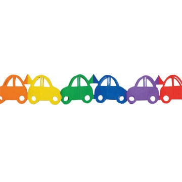 PARTY DISCOUNT Girlande Auto, bunt, 3m von PARTY DISCOUNT