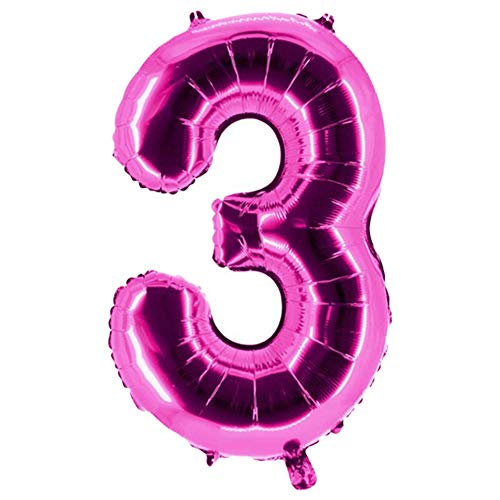 Party Factory Folienballons Pink 100cm Zahlen 0-9 (3) von Party Factory