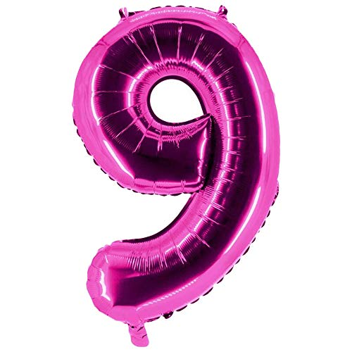 Party Factory Folienballons Pink 100cm Zahlen 0-9 (9) von Party Factory