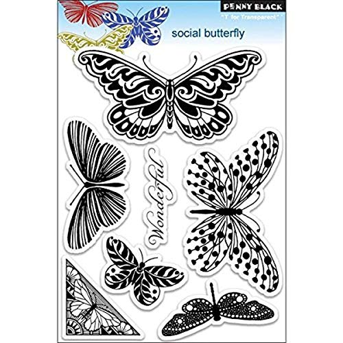 Penny Black PB30116 Social Butterfly Clear Stamp von Pennyblack