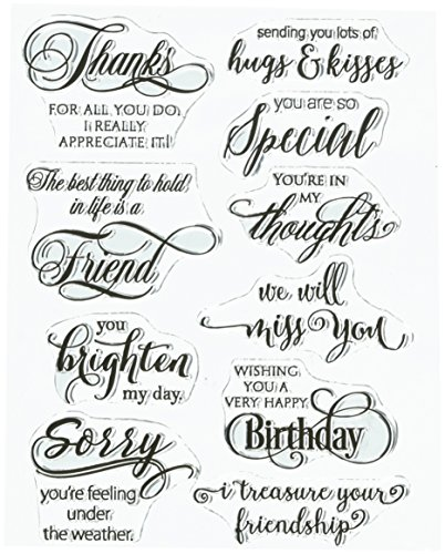 Penny Black Penny Black Clear Stamps 12,7 cm x 7-inch-Special Gedanken, andere, Mehrfarbig von Pennyblack