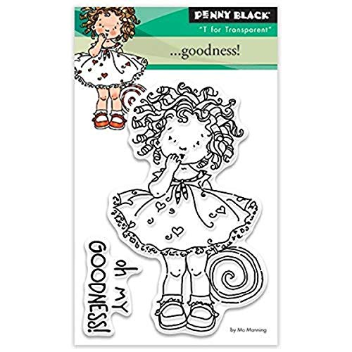 Penny Black Penny Black Clear Stamps 3 Zoll x 4-Zoll Goodness, Acryl, Mehrfarbig von Pennyblack