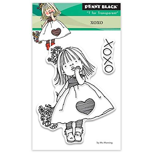 Penny Black Penny Black Clear Stamps 3 Zoll x 4-inch-XOXO, andere, Mehrfarbig von Pennyblack