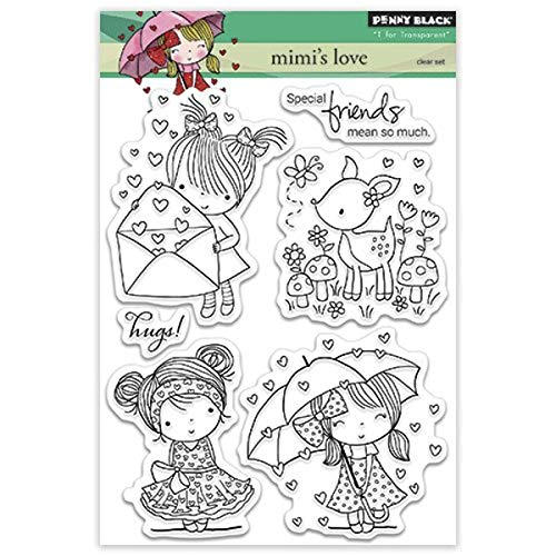 Penny Black Rubber Clear Stamps 12,7 cm x 6,5 Sheet-Mimi 's Love von Pennyblack