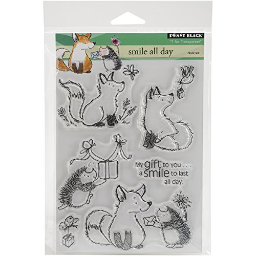 Penny Black Rubber CLEAR STAMPS 12,7 cm x 6,5 sheet-smile alle Tag von Pennyblack