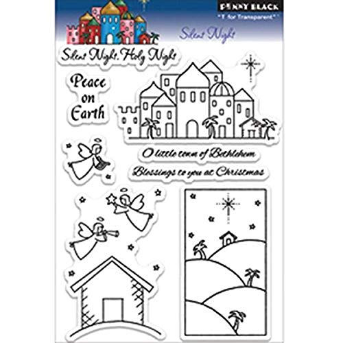 Penny Black Rubber Clear Stamps 12,7 cm x 19,1 cm Sheet-Silent Nacht von Pennyblack