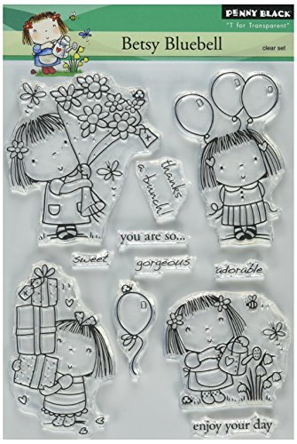 Penny Schwarz 5 X 19,1 cm Clear Stamps Sheet-Betsy Bluebell von Pennyblack