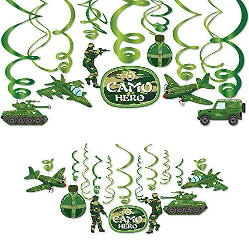 Qpout Camouflage hanging spiral, birthday party decoration von Qpout