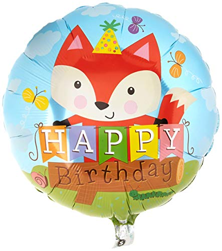 Qualatex 25176 45,7 cm rund Geburtstag Party Fox Folienballon 01 ct von Qualatex