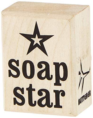 Rayher Stempel Soap Star, 3x4cm, Holz, Natur, rot, 4 x 3 x 2.5 cm von Rayher