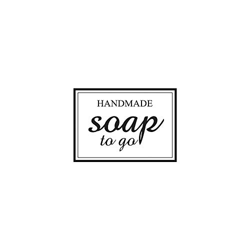 "RAYHER 29052000 Stempel ""handmade - Soap To Go"", 3x4cm, Holz, Natur, Rot, 4 x 3 x 2.5 cm von RAYHER HOBBY"