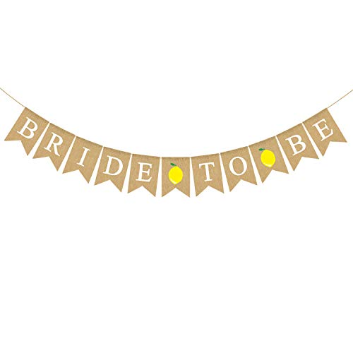 "Rainlemon Banner ""Bride to Be"", Jute, Zitrone, Brautparty, Limonade, Party-Dekoration von Rainlemon"