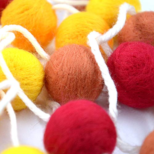 Rainlemon Wollfilz Herbst Pom Poms Herbst Craft Ball Girlande Thanksgiving Kamin Dekoration 20 Stück von Rainlemon