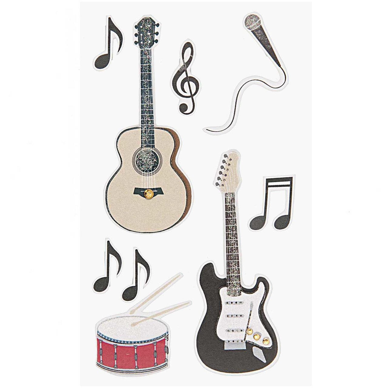Paper Poetry 3D Sticker Rockmusik von Rico Design