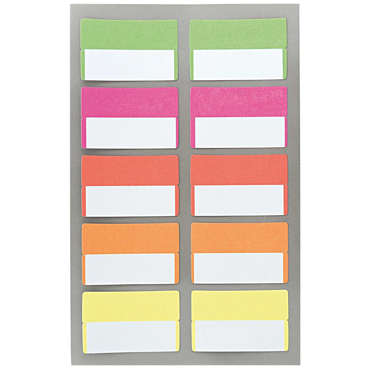 Paper Poetry Office Sticker Register Etiketten neon 40x25mm 4 Bogen von Rico Design