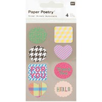 Paper Poetry Sticker Etiketten for you 4 Bogen von Rico Design
