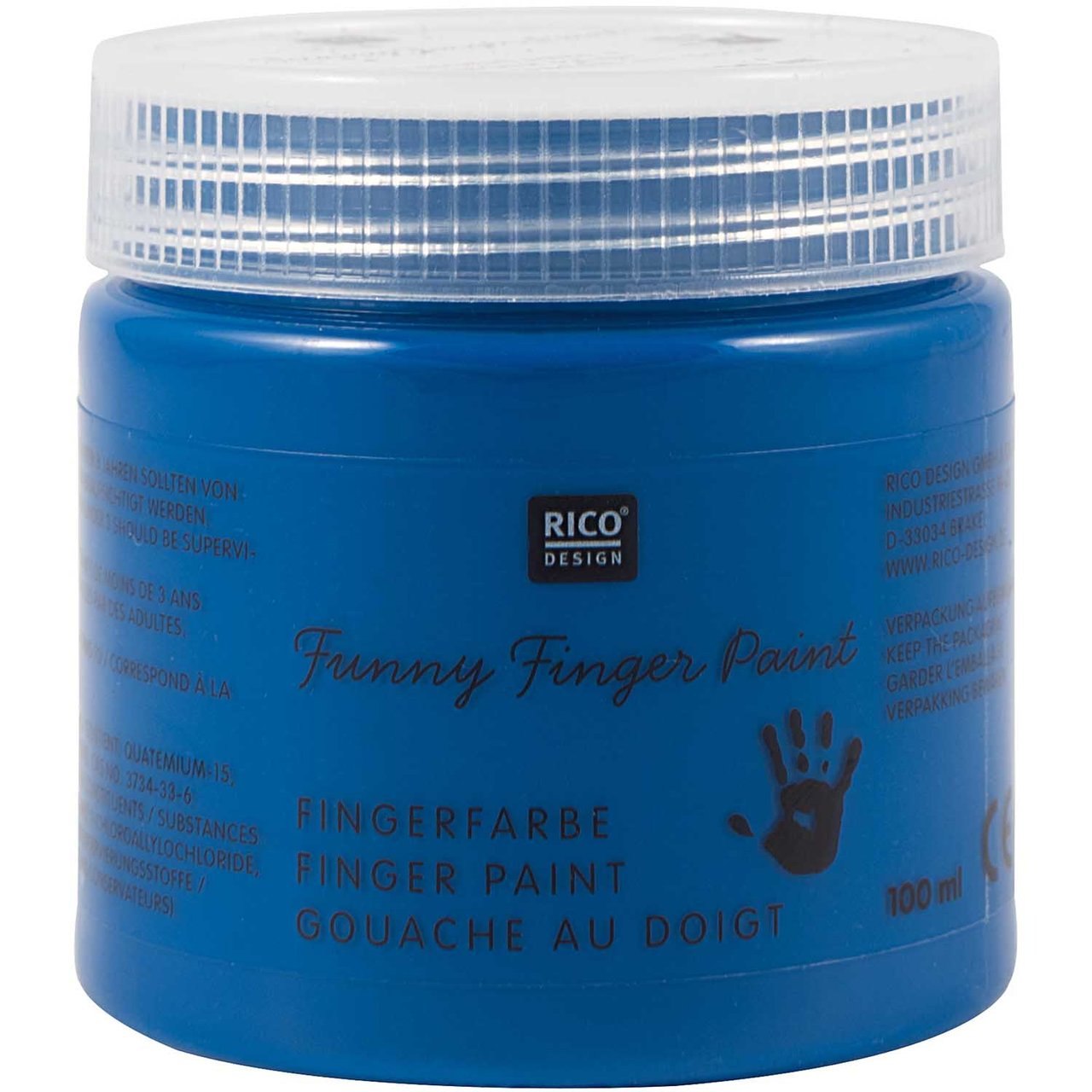 Rico Design Fingerfarbe 100ml blau von Rico Design