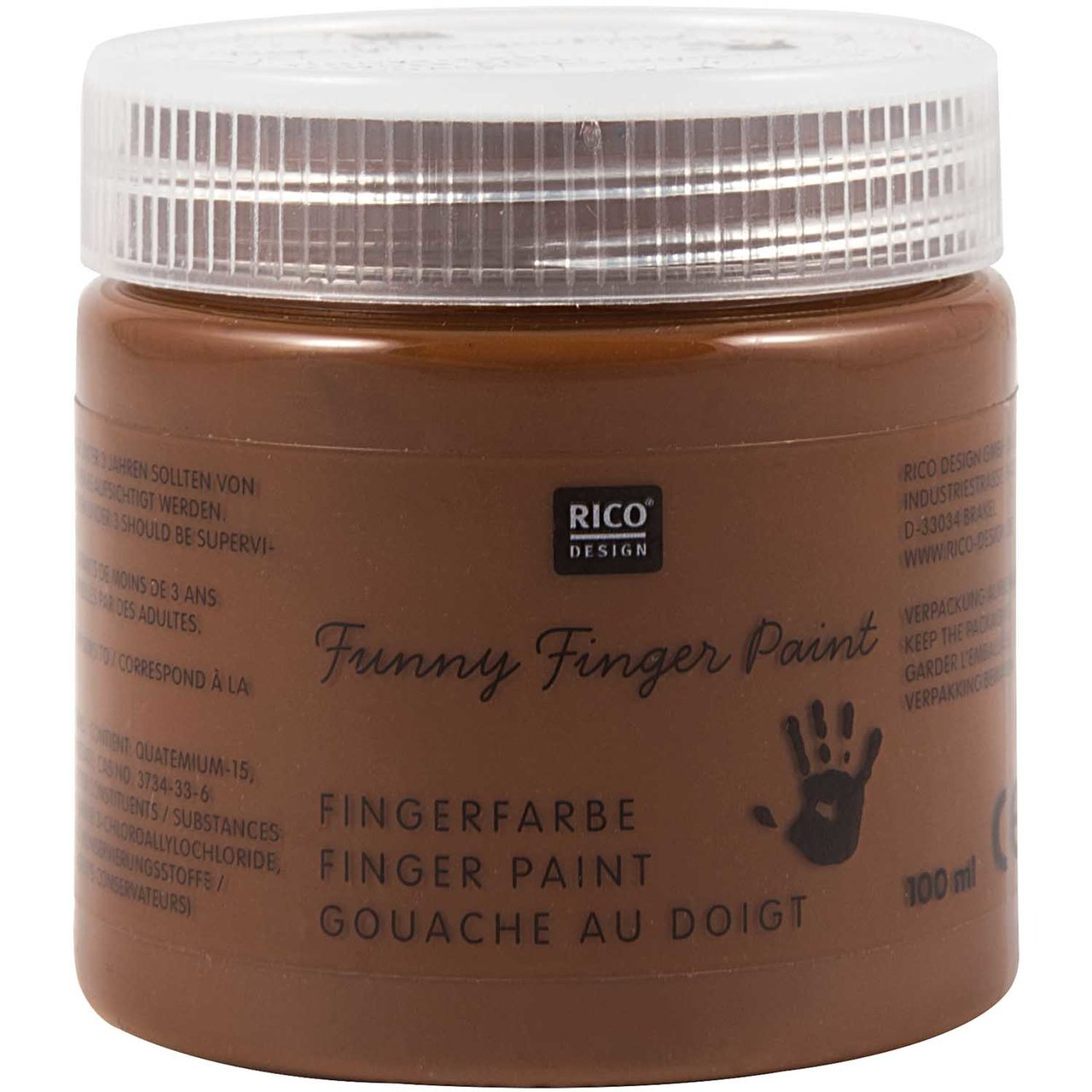 Rico Design Fingerfarbe 100ml braun von Rico Design