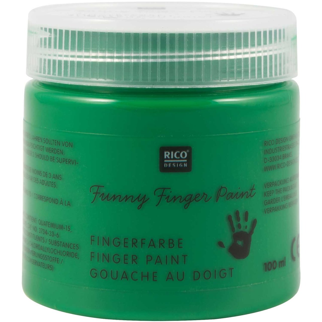 Rico Design Fingerfarbe 100ml grün von Rico Design