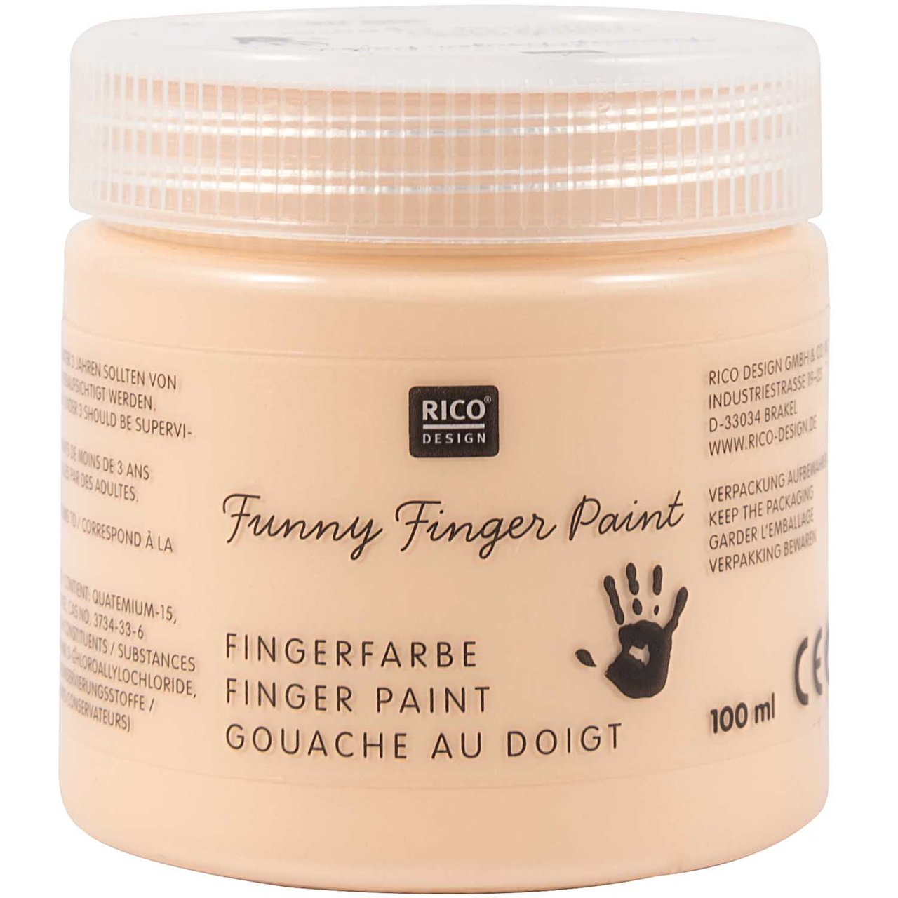 Rico Design Fingerfarbe 100ml hautfarbe von Rico Design
