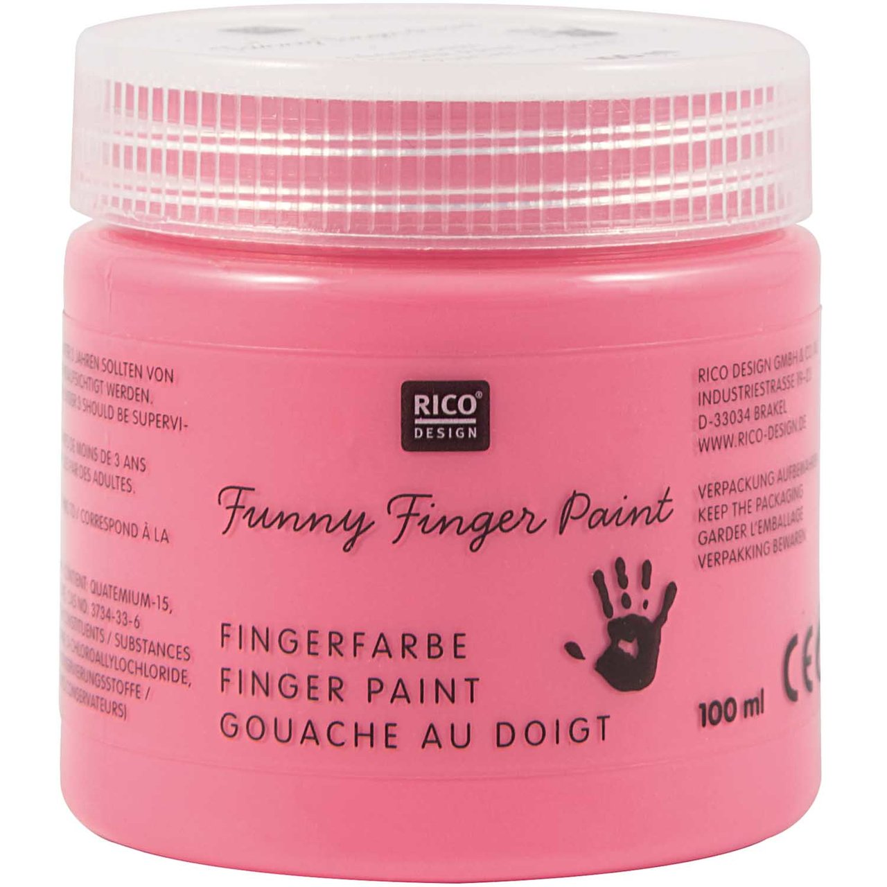 Rico Design Fingerfarbe 100ml pink von Rico Design