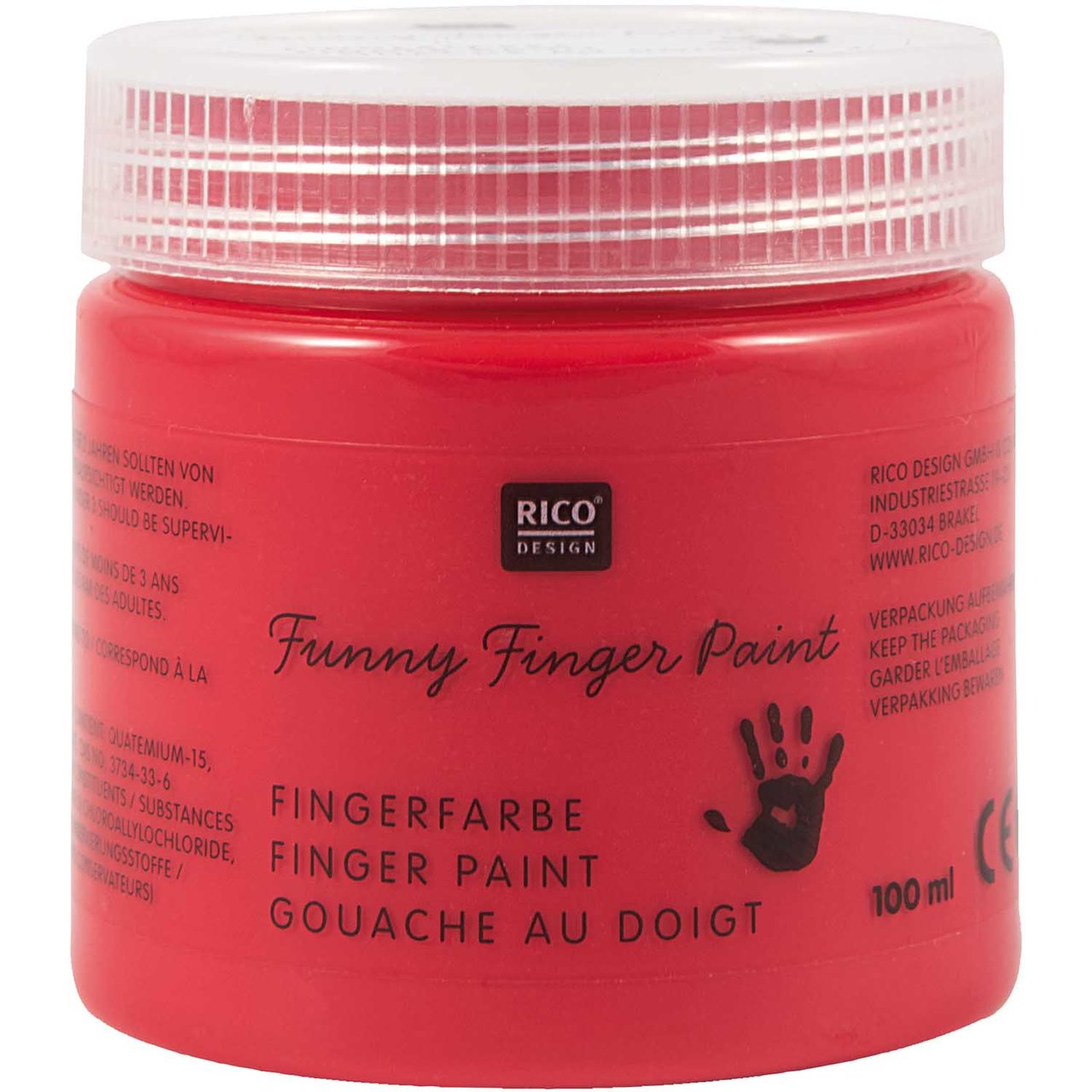Rico Design Fingerfarbe 100ml rot von Rico Design