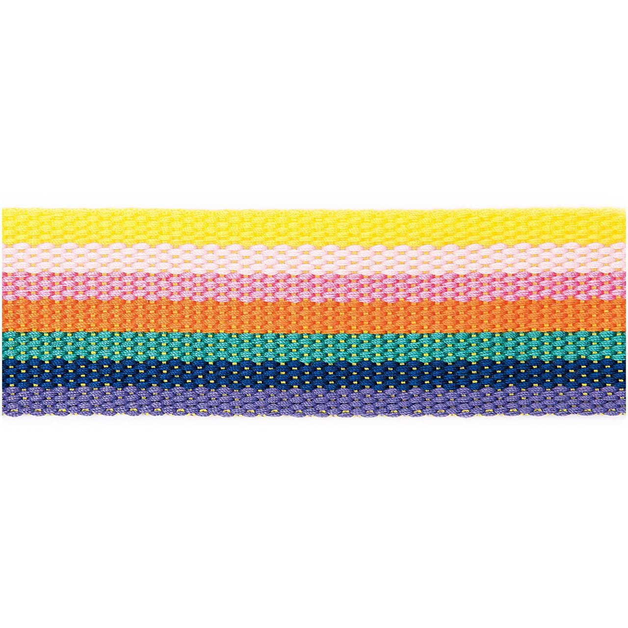 Rico Design Gurtband gestreift 40mm 2m rainbow von Rico Design