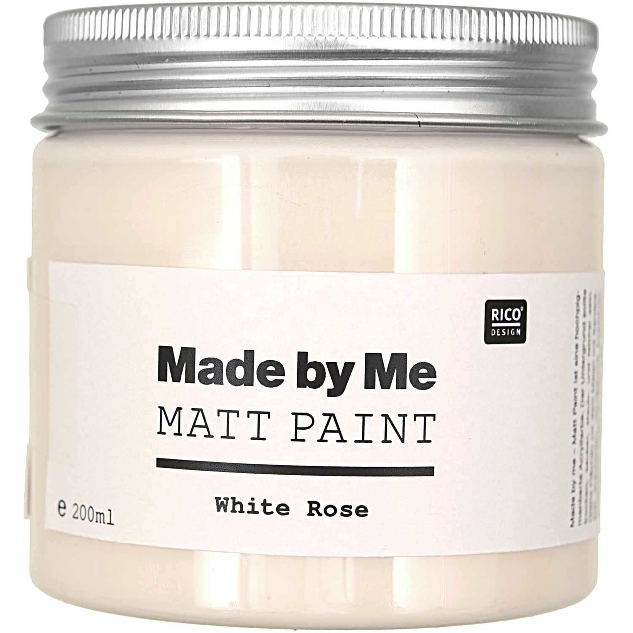 Rico Design Matt Paint 200ml white rose von Rico Design