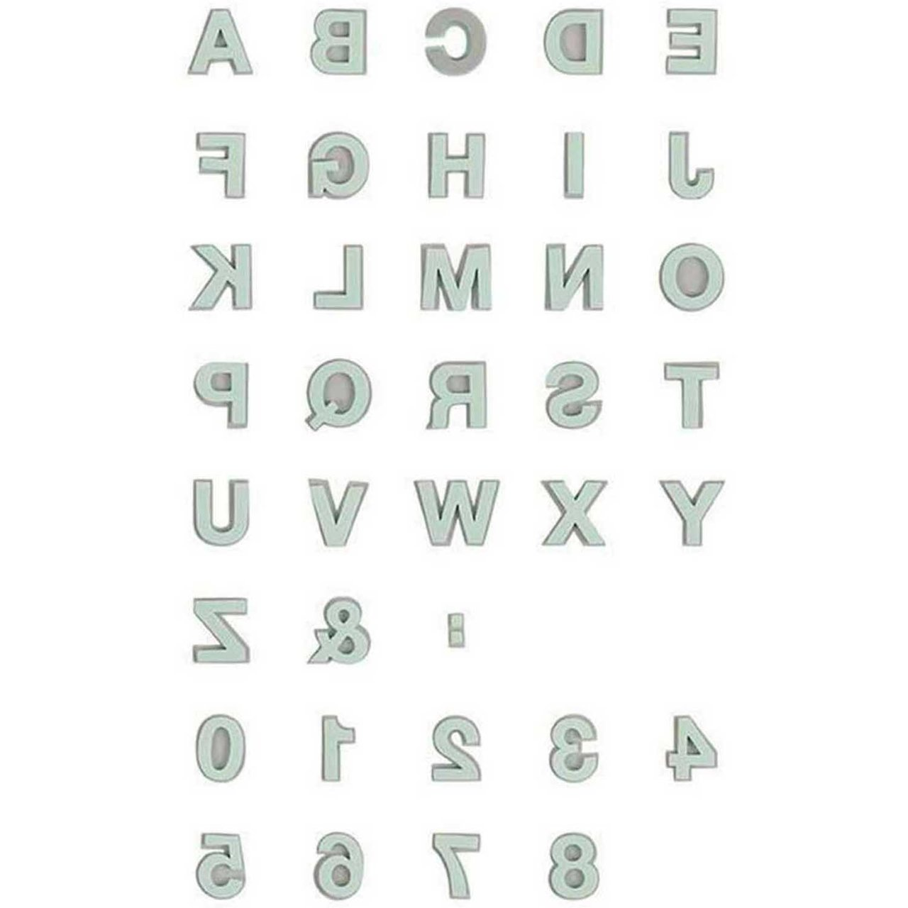 Rico Design Moosgummistempel Set Alphabet 2 von Rico Design