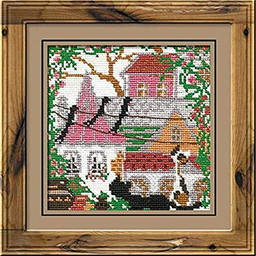 Riolis 612 City und Cats Summer Cross Stitch Kit, Baumwolle, Multi-Color, 13 x 0, 1 cm von Riolis