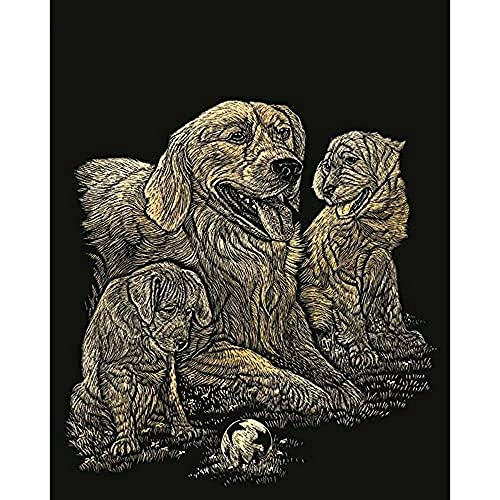 Royal Langnickel Royal & Langnickel GOLF11 Kratzbilder/Engraving Art-Golden Retriever, standart von Royal Langnickel