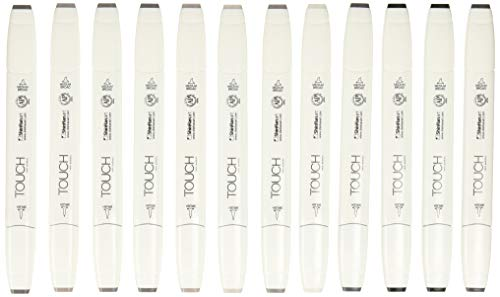 Touch Twin Brush Marker Warm Grey Set 12 Stück von Graff City