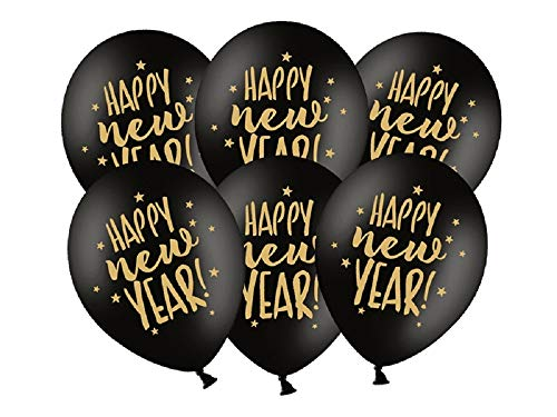 SiDeSo 10 Luftballons 2019 Happy New Year Silvester Party Deko (Happy New Year Gold) von SiDeSo