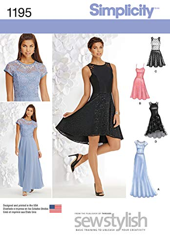Simplicity 1195 Women's Evening, Special Occasion, and Cocktail Dress Sewing Pattern, Sizes 4-12 von Simplicity