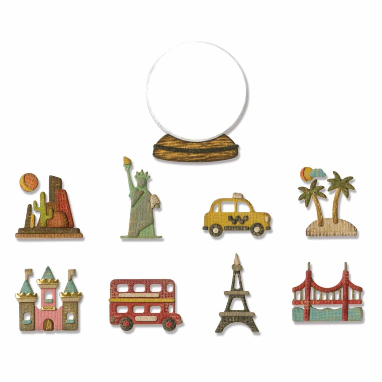 Sizzix Thinlits Die Set Tiny Travel Globe by Tim Holtz von Sizzix