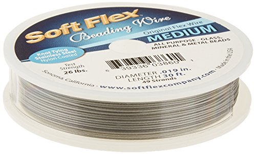 Soft Flex 0.019-Inch Beading Wire, 30-Feet, Grey von Soft Flex
