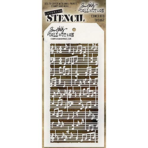 Stempel Anonymous ths067 Tim Holtz Layered Stencil, Mehrfarbig, 4.125 X 21,6 cm von Stampers Anonymous
