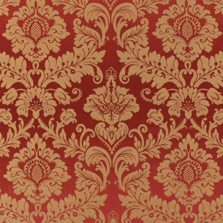 Jacquard Trento, 280 cm, rot/gold von Stoffe Hemmers