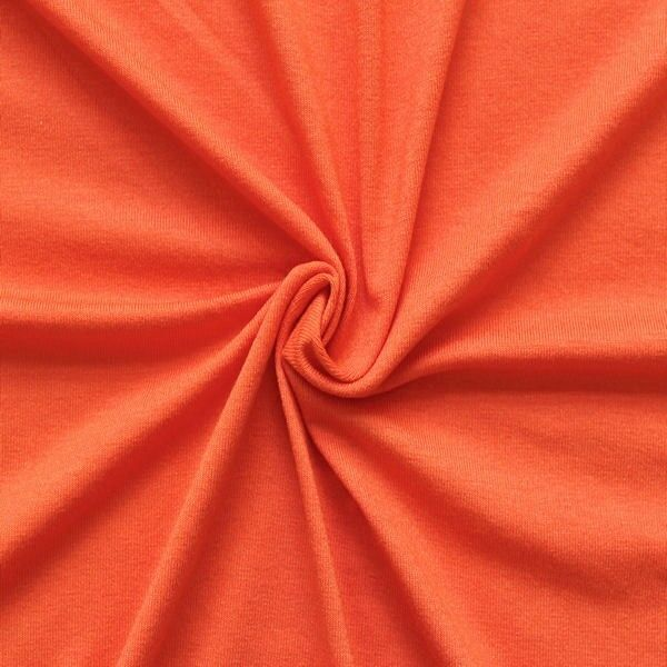 Viskose Stretch Jersey `Basic` Farbe Orange von Stoffkontor