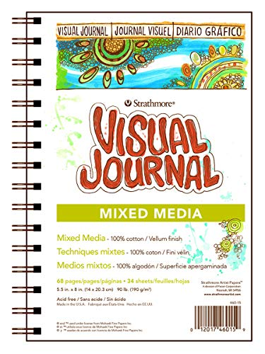Strathmore Visual Journal Mixed Media Pergamentpapier 14 cm x 20,3 cm, 34 Blatt von Strathmore