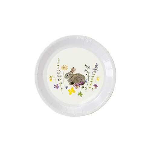 "Talking Tables TSBUNNY CAN Truly Bunny 5"" Canape Plate Pack Of 12 Papier mehrfarbig von Talking Tables"