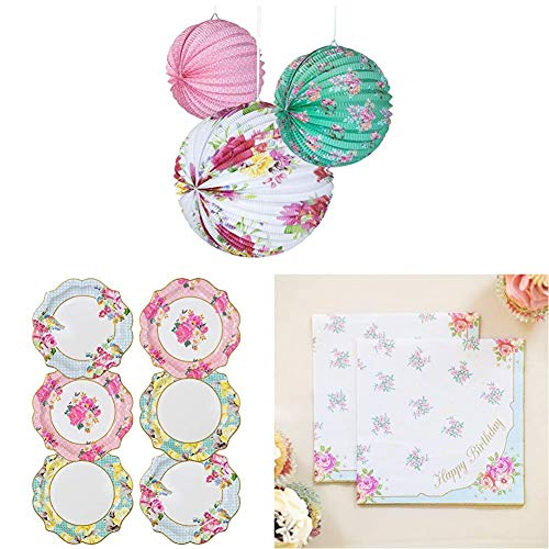 Talking Tables Truly Scrumptious Afternoon Tea Party Hanging Decorations, Paper Plates, Happy Birthday Napkins von Talking Tables