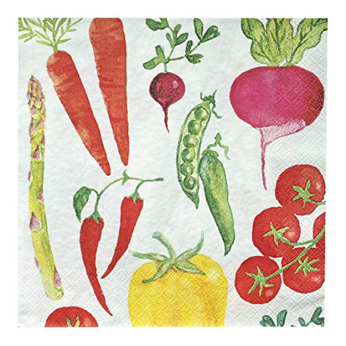 Talking Tables Vegetable Napkins 16,5 cm gefaltet, 20 Stück von Talking Tables