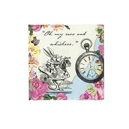 Truly Alice Dainty Napkins x 20 Alice in Wonderland Madd Hatters von Talking Tables