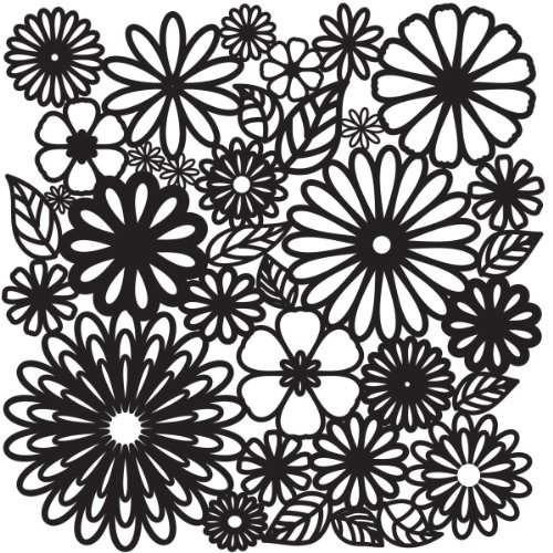 Crafters Workshop 12 x 12 Zoll Flower Frenzy Vorlage, transparent von The Crafter's Workshop