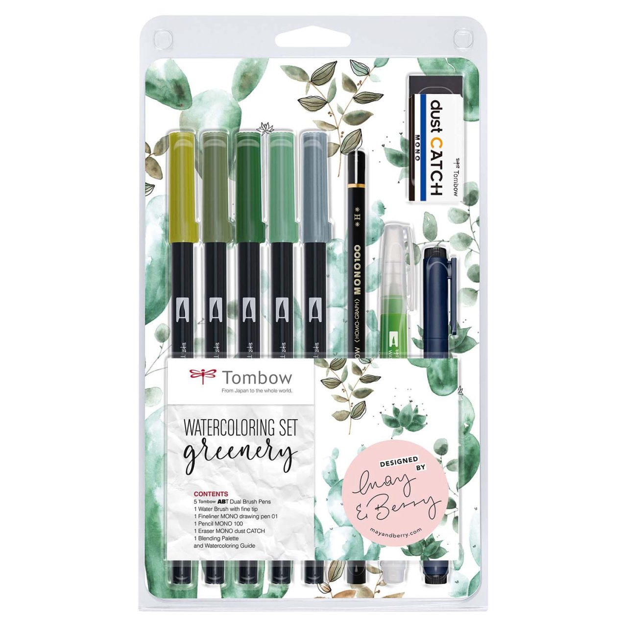 Tombow Watercoloring Set Greenery von Tombow
