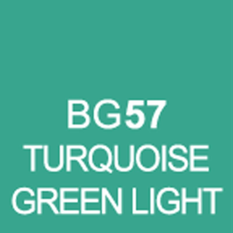 TOUCH Twin Brush Marker Turquoise Green Light BG57 von Touch