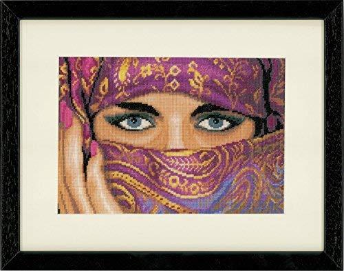 Baumwolle 20 x 40 x 0.3 cm Mehrfarbig Lanarte Z/ählmusterpackung Afrikanische Mode I Kreuzstichpackung